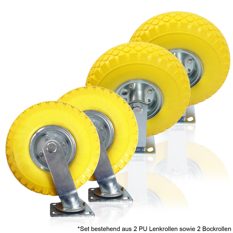 2 x Möbelrolle Transportrollen Lenkrolle Bockrollen Lenkrollen Gummi Schäumen