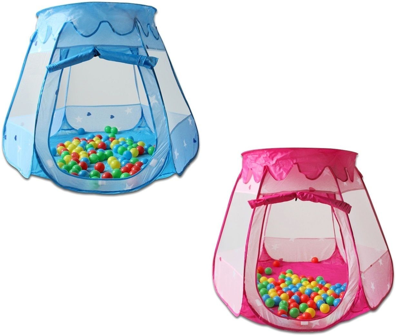 hsm pop up b llebad mit 100 b llen spielhaus kinderzelt babypool pink blau ebay. Black Bedroom Furniture Sets. Home Design Ideas